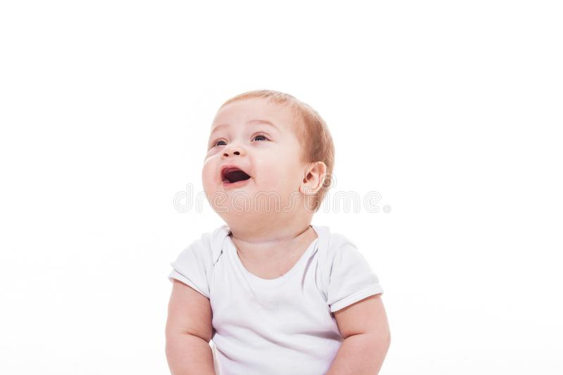 Happy baby portrait royalty free stock image
