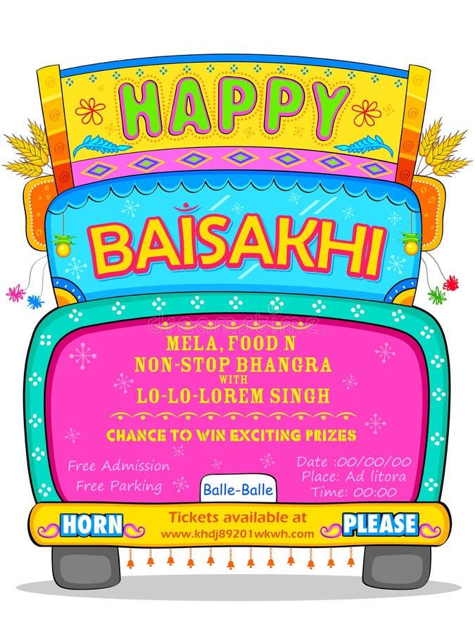 Happy Baisakhi background royalty free illustration