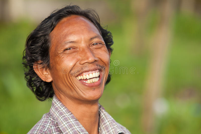 Happy Balinese Man Editorial Stock Image