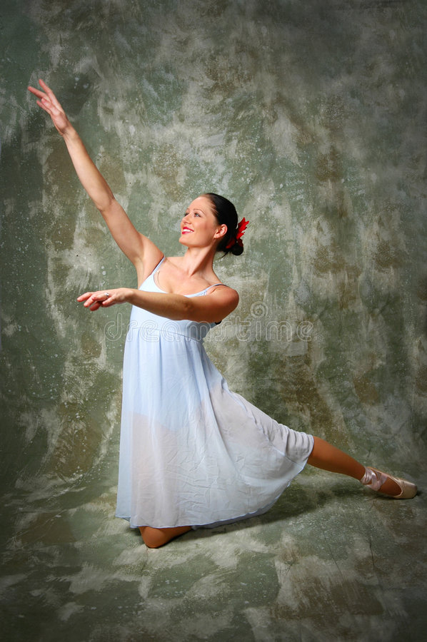 Happy Ballerina. Striking a pose stock photo