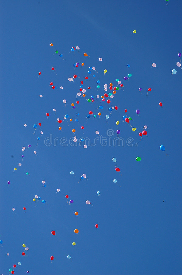 Happy balloons stock images