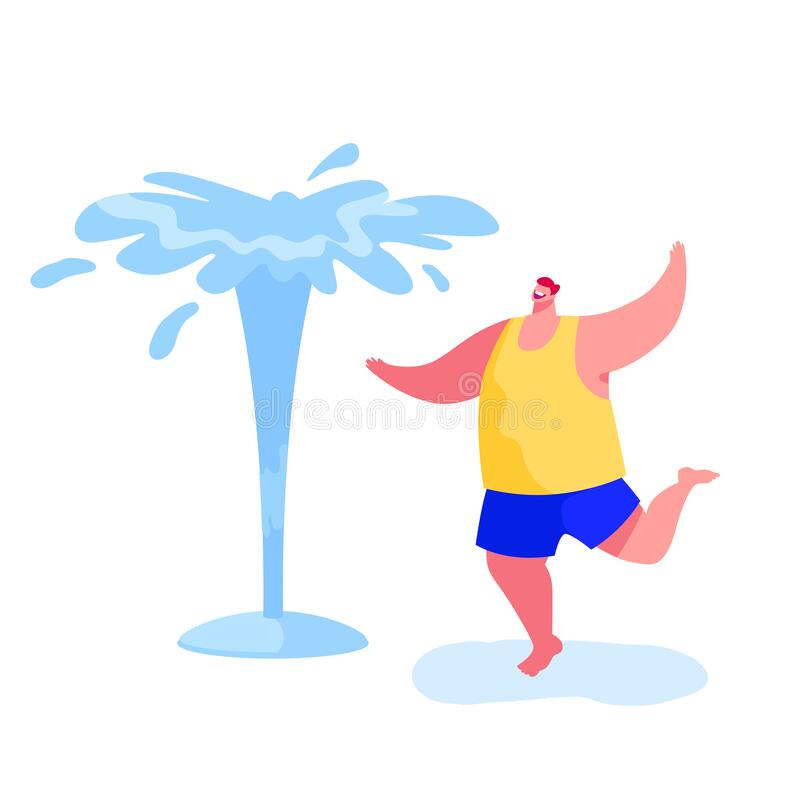 Free Happy Barefoot Man Splashing And Playing With Water In Hot Summer Time Season Weather Royalty Free Stock Photo - 184914215