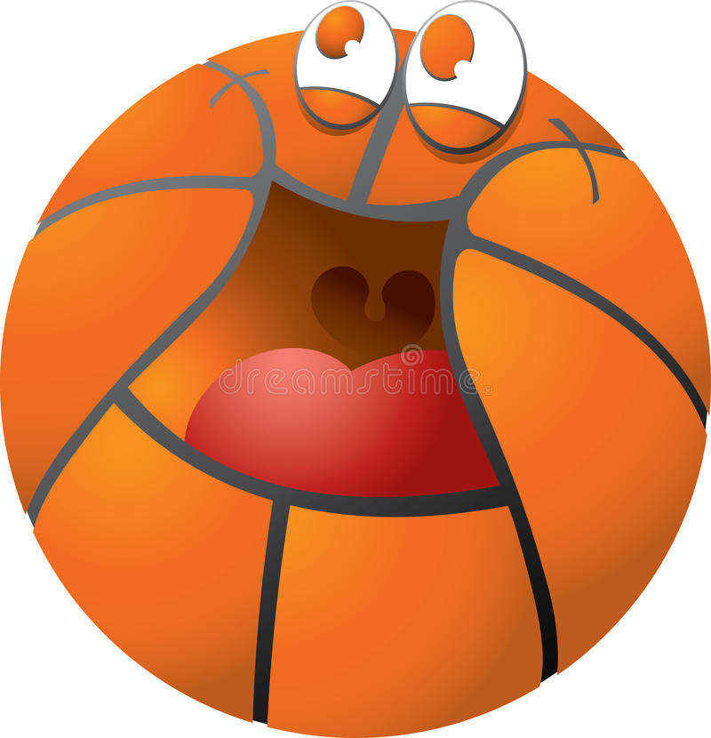 Download Happy basketball stock vector. Illustration of sphere - 25503824