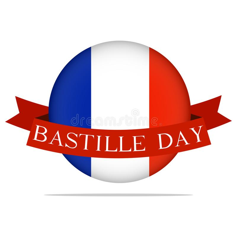 Happy Bastille DAy. Abstract bastille day background with some special objects stock illustration