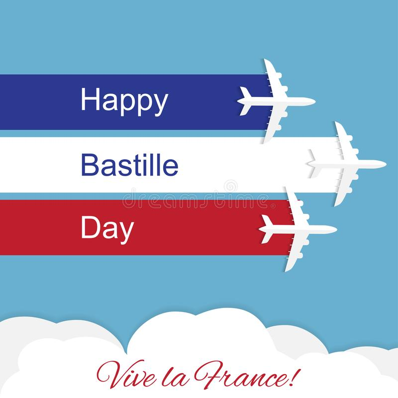 Happy bastille day independence day of france stock vector download happy bastille day independence day of france stock vector illustration of aviation m4hsunfo