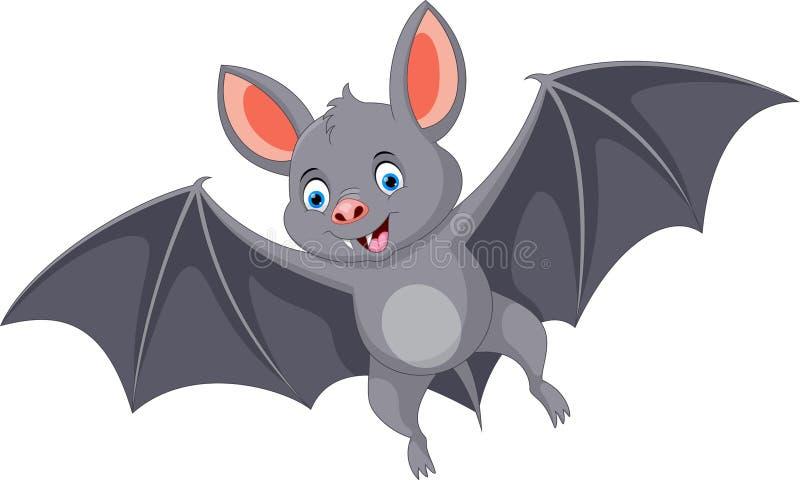Happy bat cartoon flying royalty free illustration