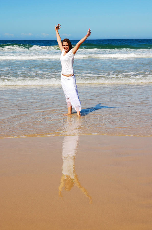 Free Happy Beach Holiday Woman Stock Photography - 10826732
