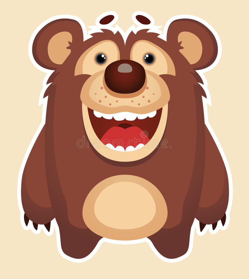 Download Happy Bear stock vector. Image of brown, character, laughing - 25544043