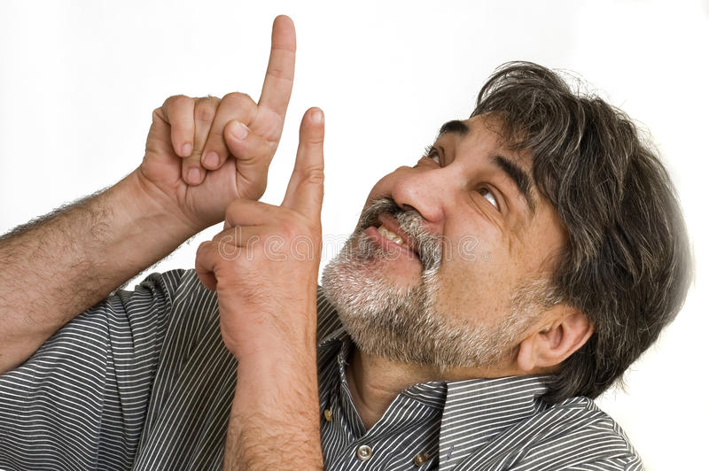 The happy bearded man stock images