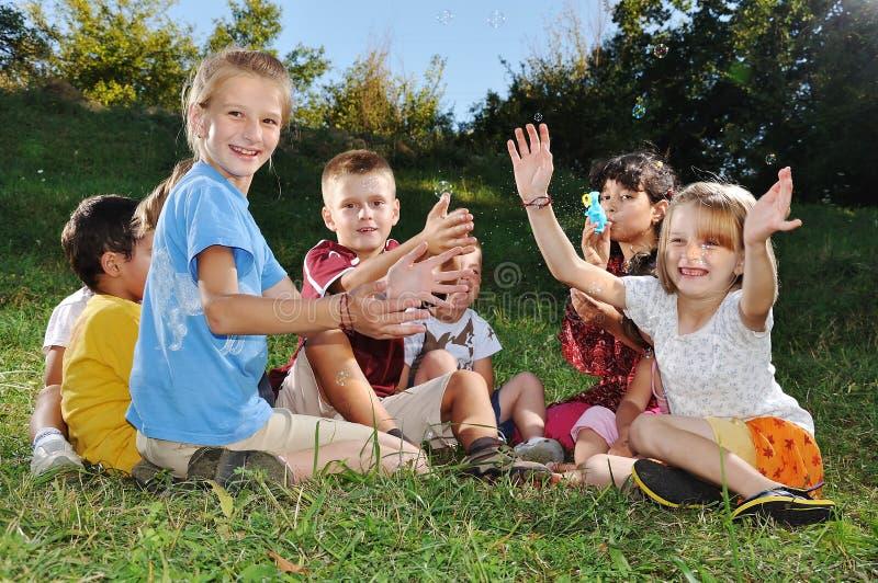 Happy beautiful children playing
