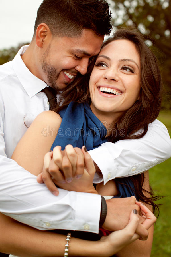 Happy beautiful couple in love. stock photos