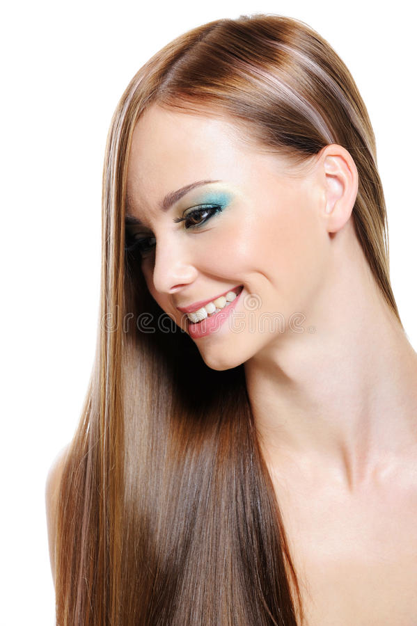 Download Happy Beautiful Girl With Health Gloss Hair Stock Photo - Image: 10227764