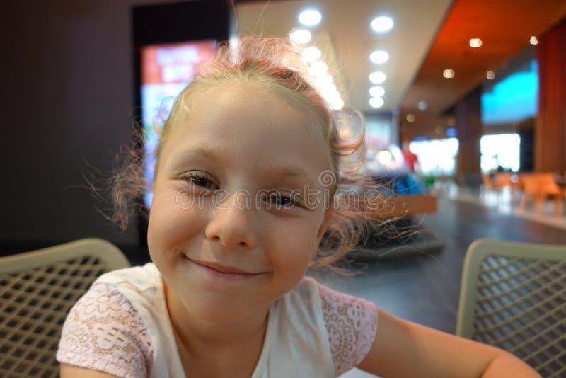 Happy beautiful little girl portrait stock photography