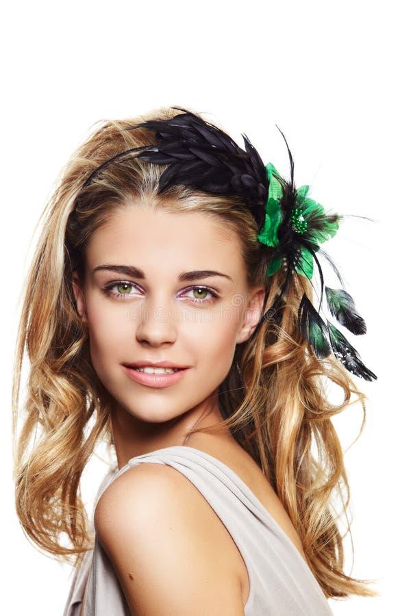 Happy beautiful woman royalty free stock image