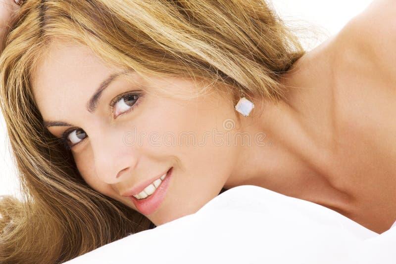 Happy beautiful woman royalty free stock photo