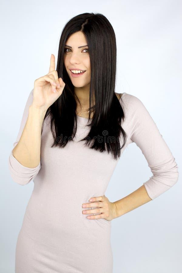 Download Happy Beautiful Woman Has An Idea Stock Photo - Image: 26658510