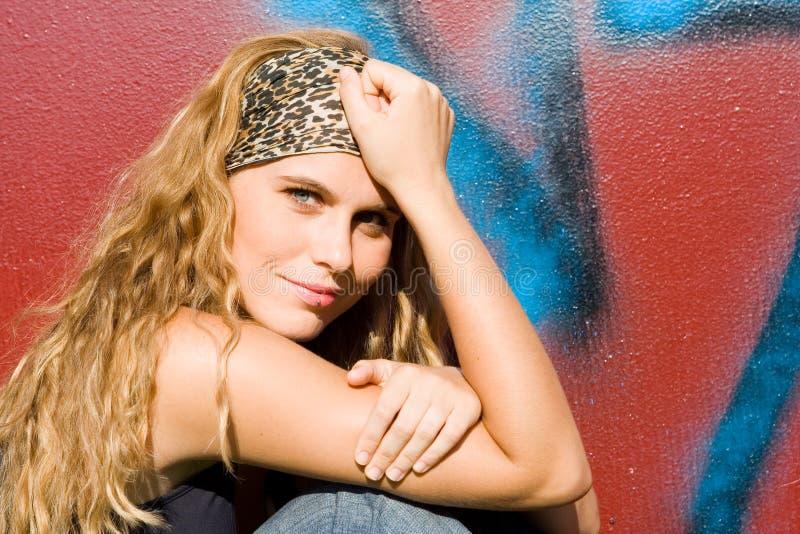 Happy beautiful young women stock photography