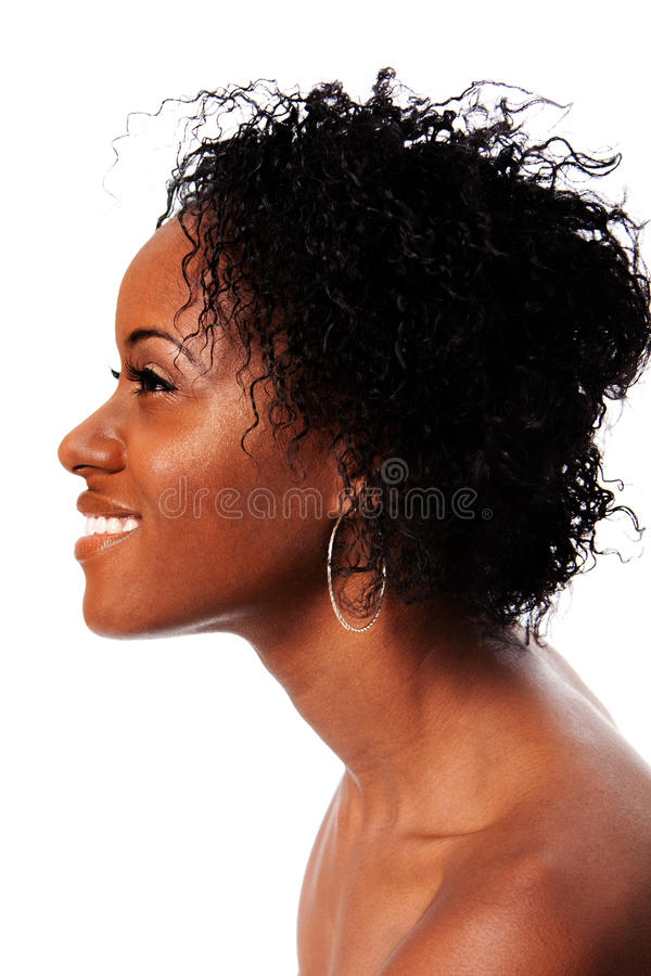 Happy Beauty Face From Side Royalty Free Stock Image