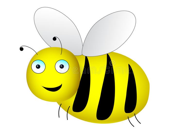 Download Happy Bee stock vector. Image of wasp, cartoon, black - 8671757