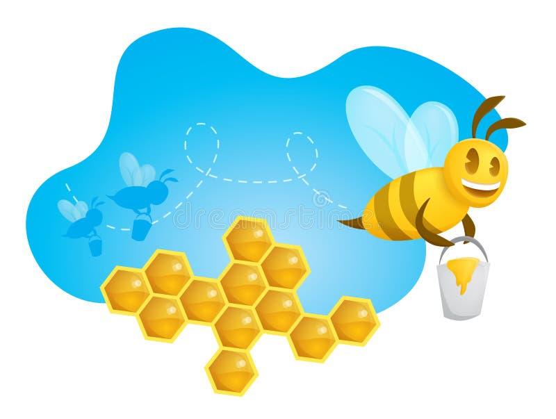 Happy Bee Royalty Free Stock Photography