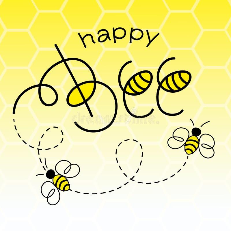Happy Bee vector illustration