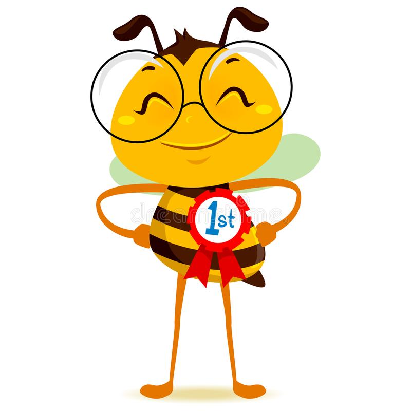 Free Happy Bee With 1st Place Ribbon Royalty Free Stock Photos - 108812478