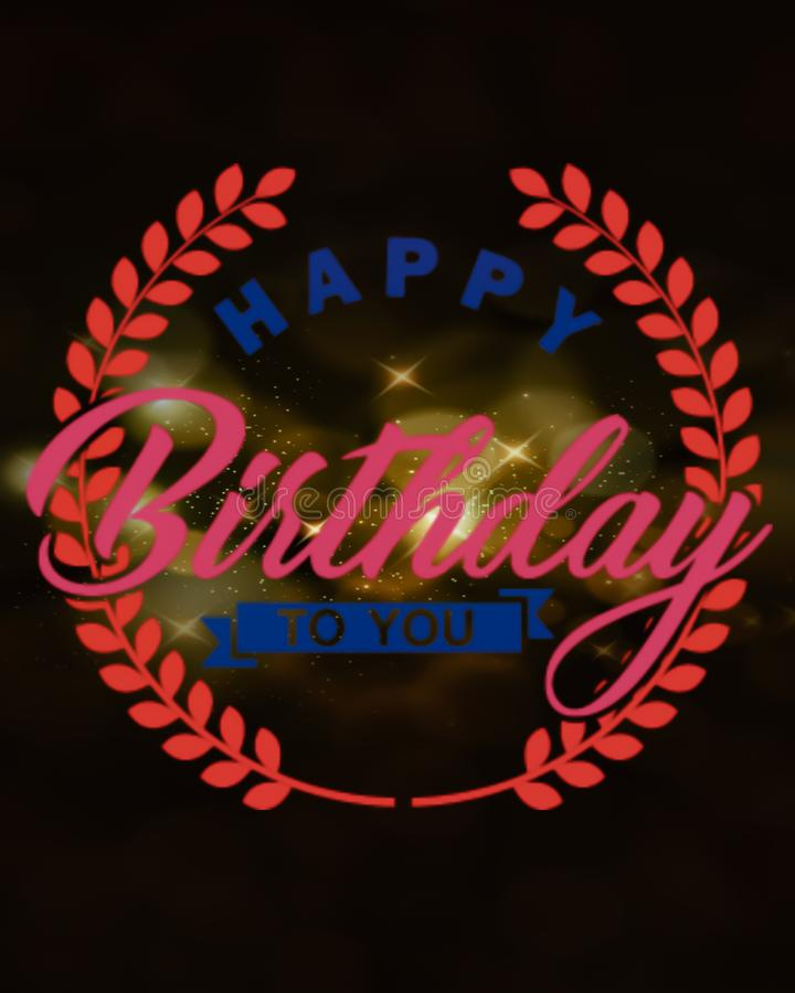 happy birth day to you text displayed on abstract background stock photos