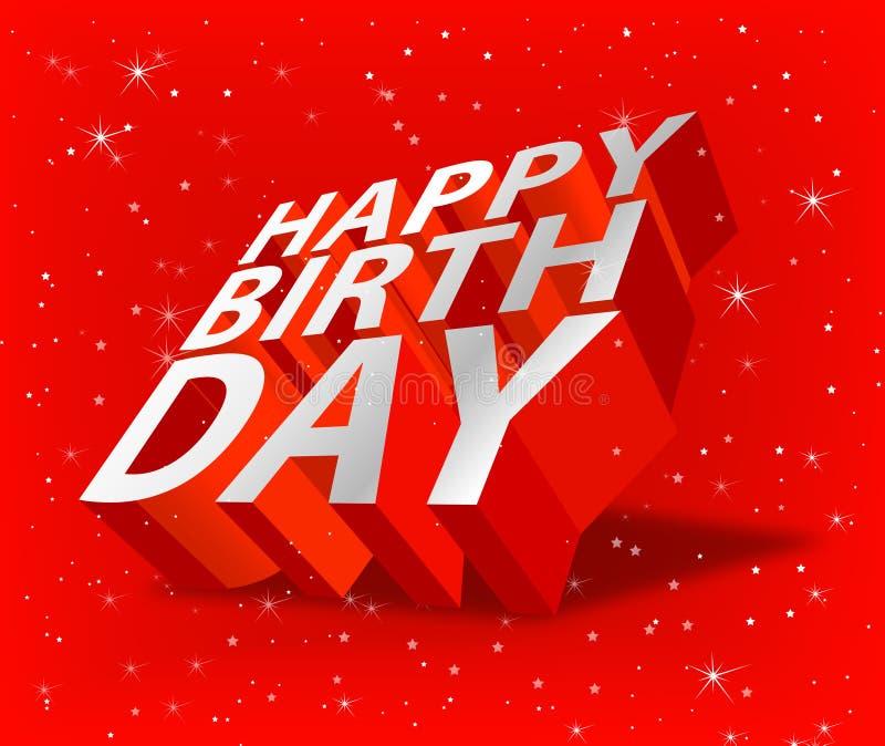 3D Happy Birthday graphics stock illustration