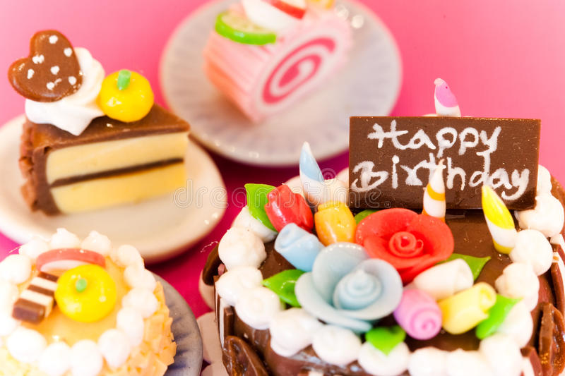 Happy Birthday. A birthday cakes. Celebration collection royalty free stock photos