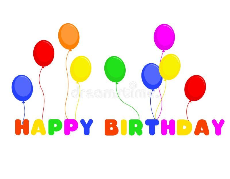 Happy birthday stock illustration