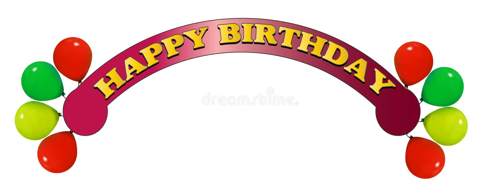 Download Happy birthday stock vector. Image of decoration, celebrate - 15719799