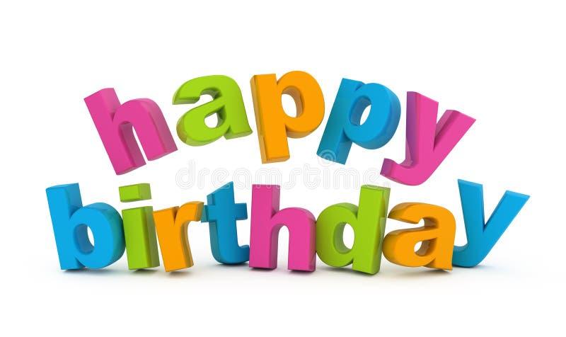 Happy birthday. stock illustration
