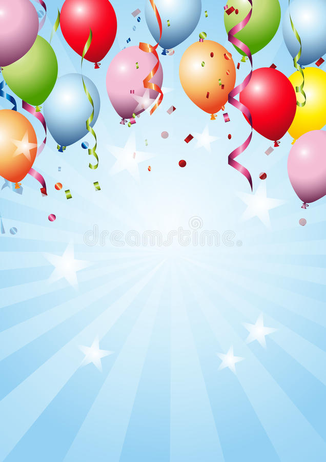 Happy Birthday. With blue background vector illustration