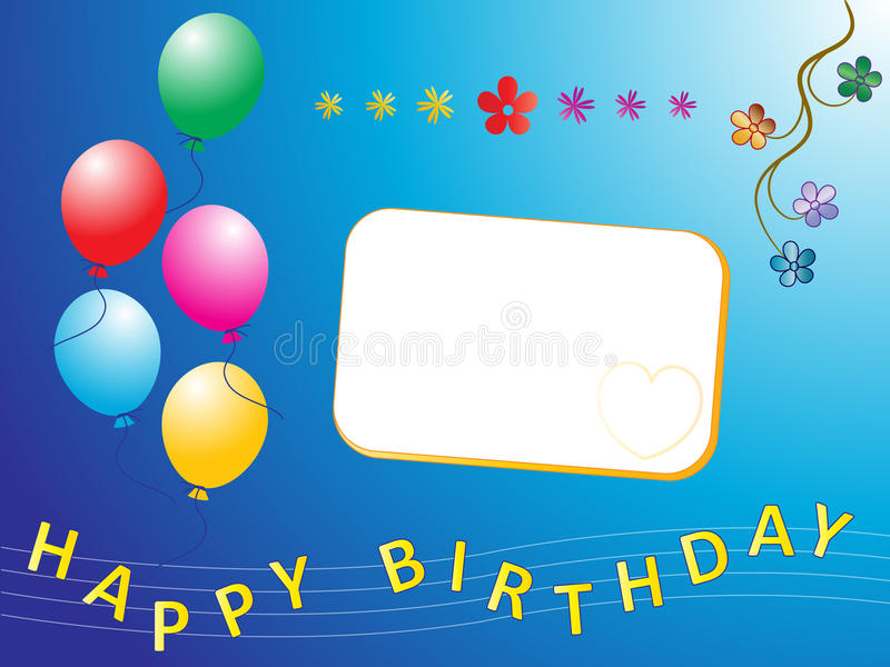 Happy birthday. Illustration of happy birthday greetings stock illustration