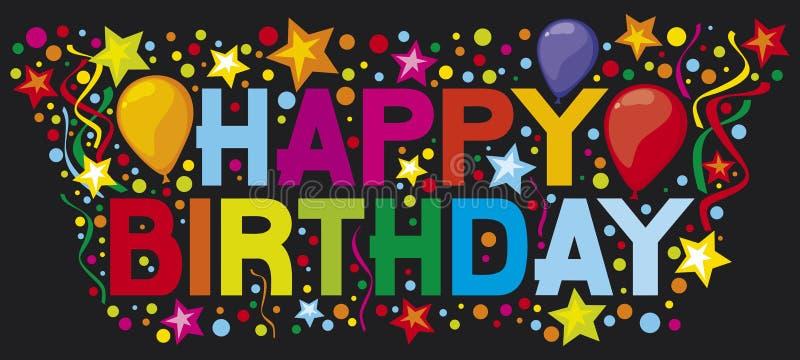 Happy birthday. Party,  design royalty free illustration