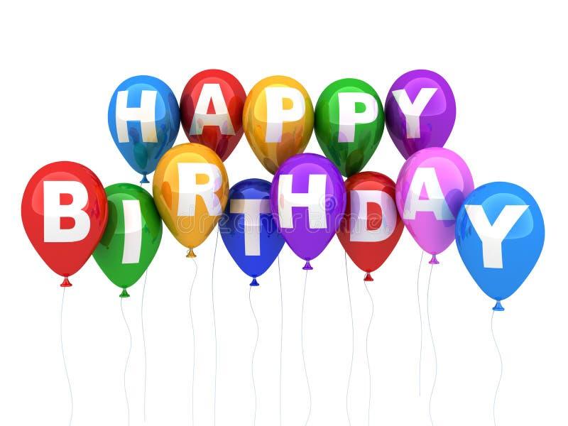 Download Happy birthday stock illustration. Image of balloons - 24255060