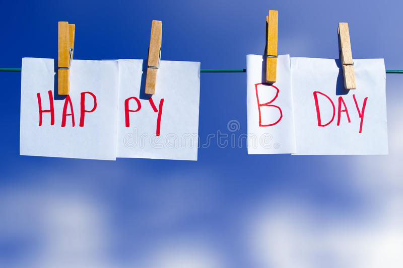 Download Happy birthday stock image. Image of notes, clothes, happy - 26527117