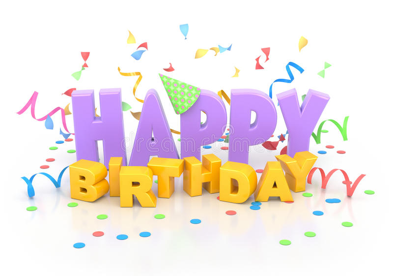 Download Happy Birthday. stock illustration. Image of word, pink - 26612988