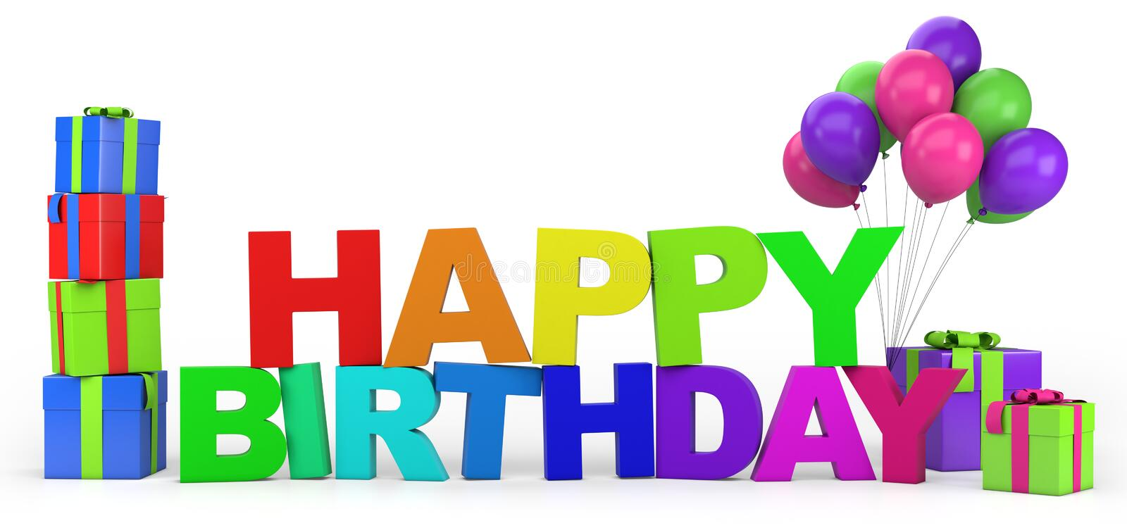 Download Happy Birthday stock illustration. Image of alphabet - 27047685