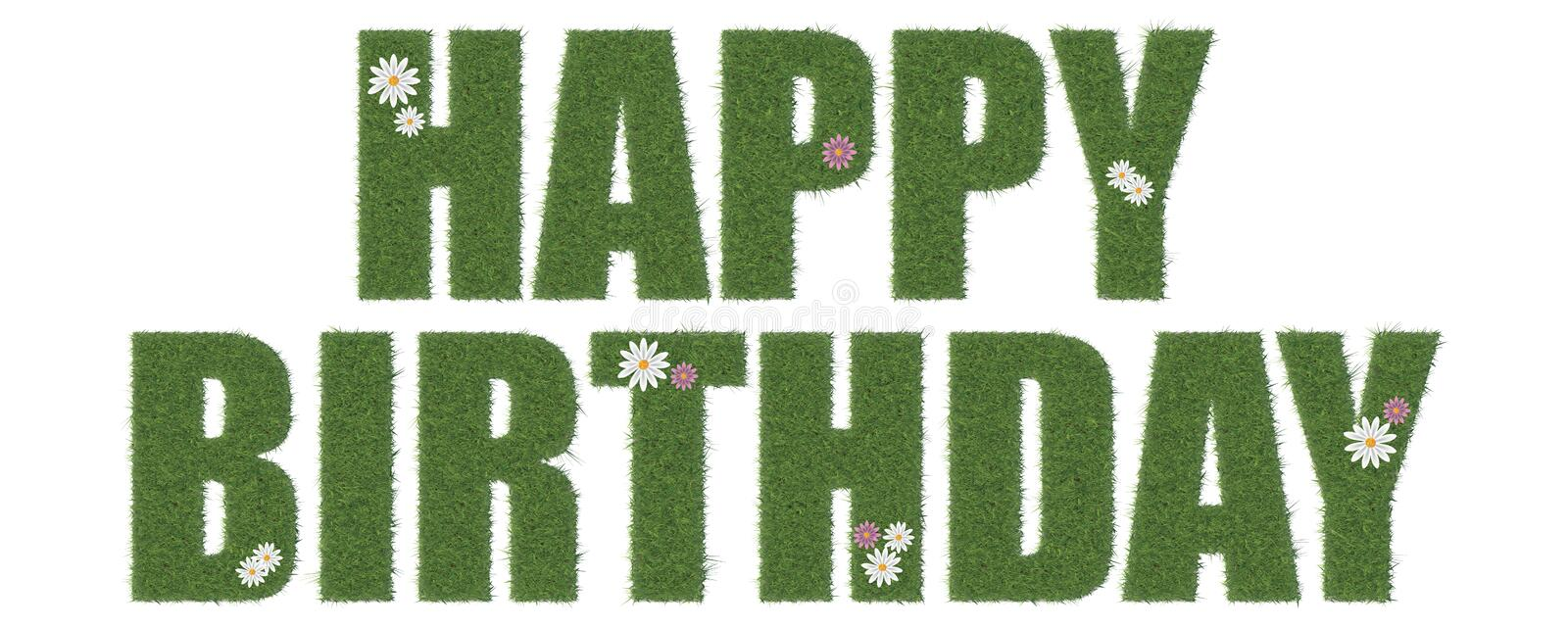 Download Happy Birthday stock illustration. Image of letters, grass - 28262245