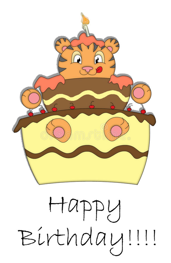 Download Happy birthday! stock illustration. Illustration of animal - 4618244