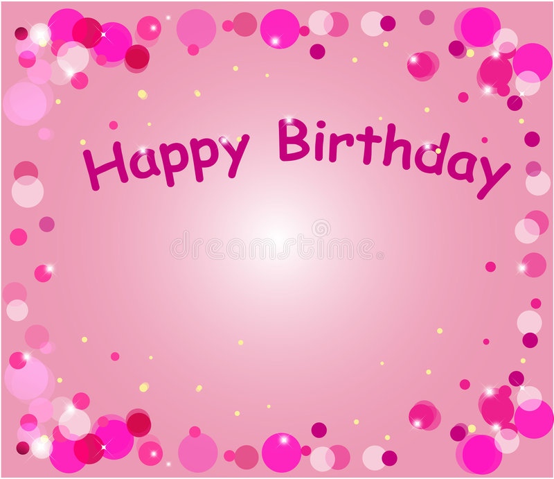 Happy birthday. Card for children with funny background. Vector illustration