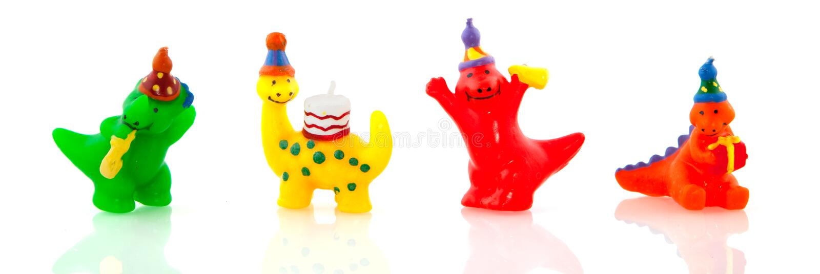 Happy birthday. With colorful birthday-candles stock photo
