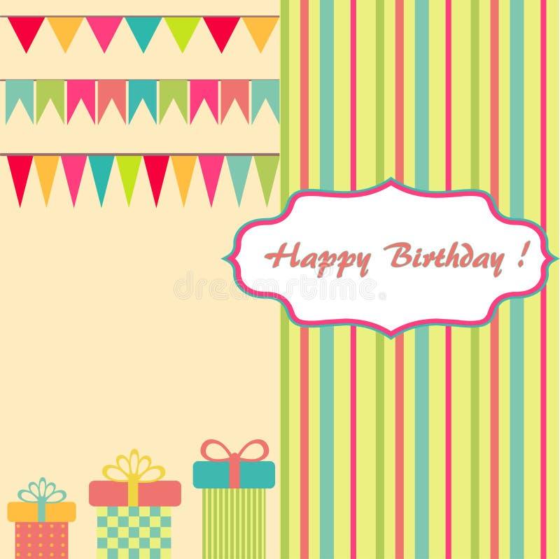 Happy Birthday Background Stock Vector. Illustration Of
