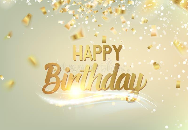 Happy Birthday Design Vector ~ Happy birthday background. stock vector. illustration of handwritten