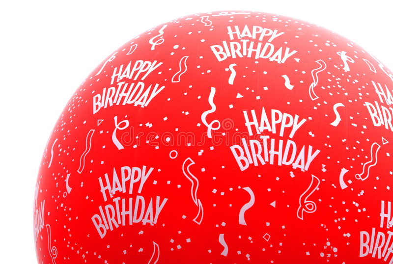 Happy Birthday Balloon stock image