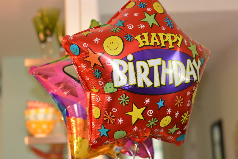 Happy Birthday Balloons. Colorful Happy Birthday Balloons To Celebrate stock images