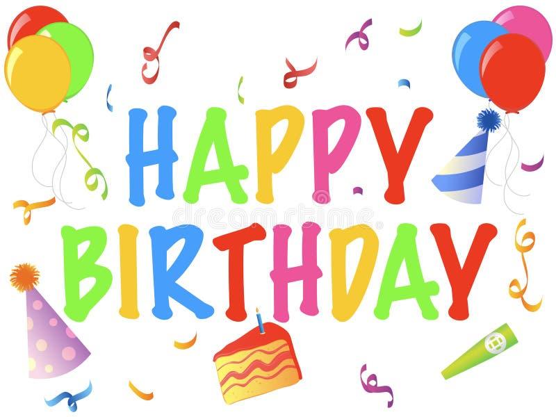 Happy Birthday Banner. An illustration in celebration of someone's birthday vector illustration