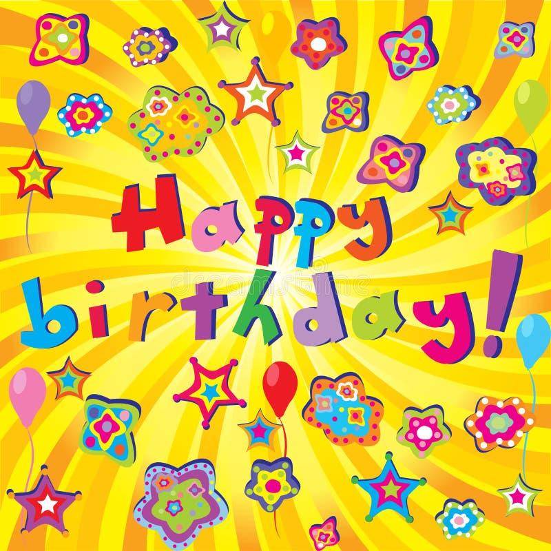 Happy Birthday banner vector illustration