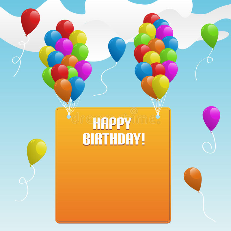 Download Happy Birthday. Banner With Balloons Stock Images - Image: 19274414